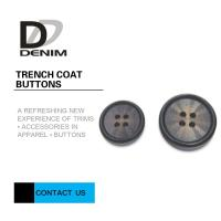 Buy cheap 40L D - Ring 4 Hole Black Buttons Bulk Classic And Relaxed For Cotton Trench Coat product