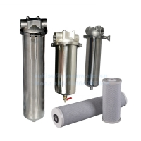 Buy cheap CE SGS Industrial Pipeline 0.1um SS316 Single Cartridge Filter Housing product