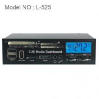 """Buy cheap 5.25"""" LCD Media Dashboard Internal Card Reader Front Panel product"""