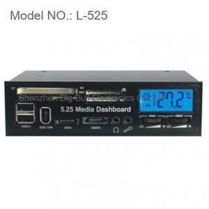 5.25 LCD Media Dashboard Internal Card Reader Front Panel