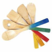 Colorful Bamboo Kitchen Supplies Bamboo Cooking Utensils With  Spoon Spatula