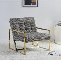 Buy cheap Contemporary Leisure Stainless Steel Swallow Gird upholstery Armchair Sofa chair for Hotel Living room product