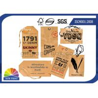 China Kraft Paper Board Packaging Accessories Printed apparel hang tags Swing Tickets on sale