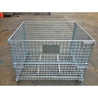 Buy cheap Industrial Stackable Welded Steel Wire Mesh Pallet Cage For Warehouse Storage product