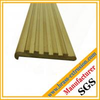 Buy cheap leaded copper alloy brass extrusion profiles of floor nosing C38500 CuZn39Pb3  CuZn39Pb2 CW612N C37700 product