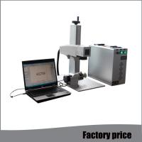 Buy cheap Raycus Small Laser Etching Machine , Air Cooling Mini Laser Engraving Machine from wholesalers