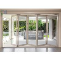 Buy cheap Aluminum Double Glazed Folding Sliding Mosquito Screen Accordion Bi-fold Door product
