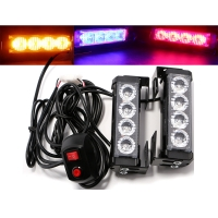 Buy cheap 8Models 640lm LED Strobe Warning Lights Blue Red Amber White product