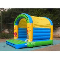 Buy cheap 5x4 mts outdoor Let's party kids inflatable bouncy castle made with 610g/m2 pvc tarpaulin product