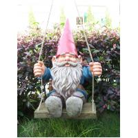 China Super polyresin Funny Garden Gnomes with unfadable painting for gardening decor on sale