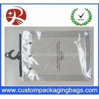 China Custom Printing Clear EVA / PVC Hook bag / Hanger Packing Plastic Bag For Clothes on sale
