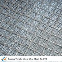 Buy cheap Flat Top Crimped Wire Mesh |50X50mm Mesh Aperture Smooth Top Crim Wire Screen by Stainless Steel product
