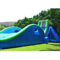 Buy cheap Customized Size Commercial Outdoor Inflatable Slide With Silk Printing from wholesalers