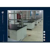 Stainless Steel Laboratory Island Bench ,  Customized Two Layers Science Lab Countertops