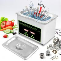 Buy cheap 0.8L 35W Gold Glasses Ultrasonic Cleaning Bath CE Tool Ultrasonic Cleaning product