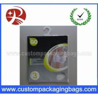 Buy cheap OEM Resealable Plastic Hanger Bags With Ziplock For Llingerie product