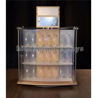 China Acrylic Wooden Display Racks 2 - Sided Revolving Countertop Watch Display Showcase wholesale
