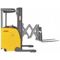 Buy cheap Electric Seated Reach Truck Forklift 1.5 Ton Load Capacity With Double Scissor product
