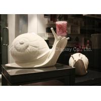 China Oversize Fiberglass Snail Statue Eco Friendly Materials For Shop Decoration on sale