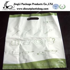 Небольшие белые изделия таблицы умирают полиэтиленовый пакет отрезка с ручками, высекая печатание плиты