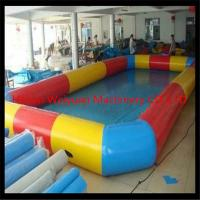 Buy cheap high quality 8*8m Customzied PVC0.9  wholesale square inflatable pool,colorful inflatable swimming pool product