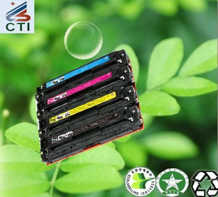 Quality Compatible HP CC530A color  toner cartridge CC531A/CC532A/ CC533A for sale