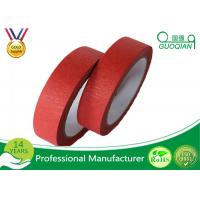 China Low Adhesive Solvent - Based Acrylic Red Colorful Thin Masking Tape Crepe Paper wholesale