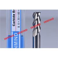 Buy cheap 30º Helix Angle End Milling Cutter / Aluminum Cutting End Mills HRC50 Hardness product