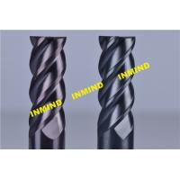 Buy cheap 10mm  / 12mm Cnc Milling Cutting Tools , Carbide High Hardness Helical End Mills With SiN Coating product
