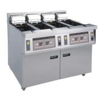 Buy cheap Stainless Commercial Kitchen Equipments / 4x13L Four - Cylider Deep Fryer With Cabinet product