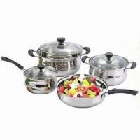 Buy cheap 7-piece Cookware Set, Made of Stainless Steel, Available with Bakelite Handle and Knob for Cook product