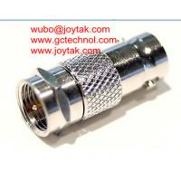 China BNC Female To F Male Coaxial Adapter impedance 75ohm BNC Coaxial Adaptor all brass nickel plated CCTV coax Connector on sale
