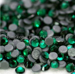 China Machine cut DMC hot fix rhinestone hot fix motif rhinestone Emerald on sale