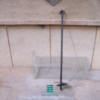China Sturdy Ground Fencing Post Anchor Galvanized Fence Fittings 840 - 3000mm Height on sale