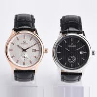 Buy cheap Customized Color Automatic Mens Wrist Watches With Leather Strap Band product
