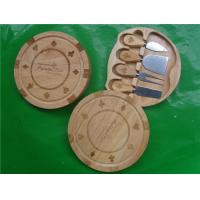 China 4pcs Cheese Knife Tool Set with Round Wood Box on sale