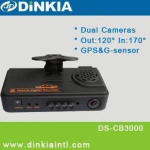 GPS y coche dual DVR DS-CB3000 de la lente del G-sensor