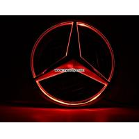 mercedes benz front grille logo led light badge light auto