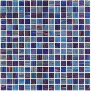 Темное небесно-голубое с линией украшением золота скороговорки смешивания мозаики стекла 20мм для встречного строения