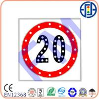China 600*600 mm 20 Solar Speed Limit Sign on sale