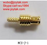 Buy cheap 良質の金はMCX streightのひだの同軸コネクタ50ohm MCX-J-1をめっきしました product