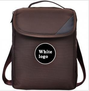 China 12 Inch Vertical Backpack Laptop Bag Brown Custom Logo Double Shoulder Strips on sale