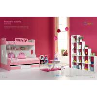 Buy cheap pink kids bunk bed with drawers and pulled bed,#6627 product