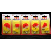 Contrast Color 100% Handmade Number Candle with Red and Yellow Coloring for sale