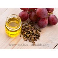 China Yellow Oild Liquid Grapeseed Oil For Cooking Cosmetics And Dissolved Steroid on sale
