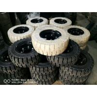 China Solid Forklift Tires 10 - 28 Forklift Spare Parts Low Speeding High Pressure Performance on sale