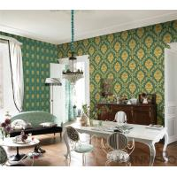 China PVC Wallpaper  Damask Chinese Wallcovering Vendor European Style Room Sofa Background on sale
