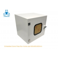 Buy cheap Embedded Door Powder Coated Steel Static Pass Box For Clean Room product