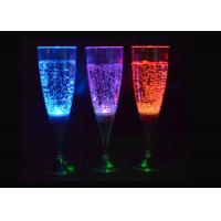 China Blue / Red Light Up Plastic Cups , Beverage / Wine Glow Party Cups on sale