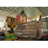 Buy cheap Big Dinosaur Inflatable Pirate Ship With Slide 12 X 4.4 X 6.7m Enviroment - Friendly product